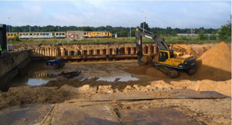 Removal of soil.