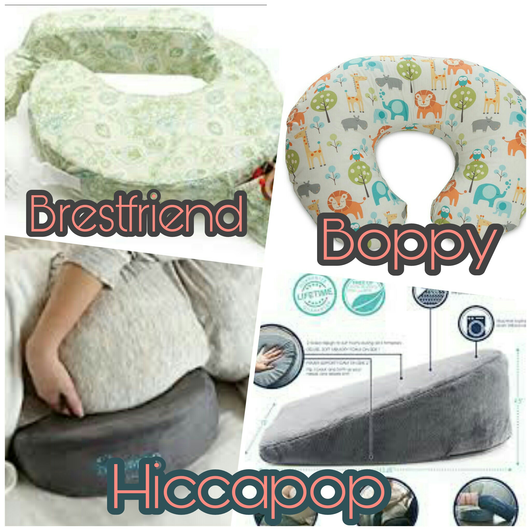 A nursing pillow will help prop baby closer to you. These all can be used for both breast and bottle feeding. The Brestfriend has a clasp that you can adjust at any point on your torso, it also has a little pocket you can fit a water bottle, a pacifier, a nipple shield, really anything you have found helpful in your feeds. I included the Hiccapop because it is an awesome edition to propping baby higher, I personally use it on my lap under baby for bottle feeds. It allows for me to sit up straight and props up baby on an angle for feeds. This is really for pregnancy prior to baby's arrival, but I recommend as another full circle tool for both parent and baby.