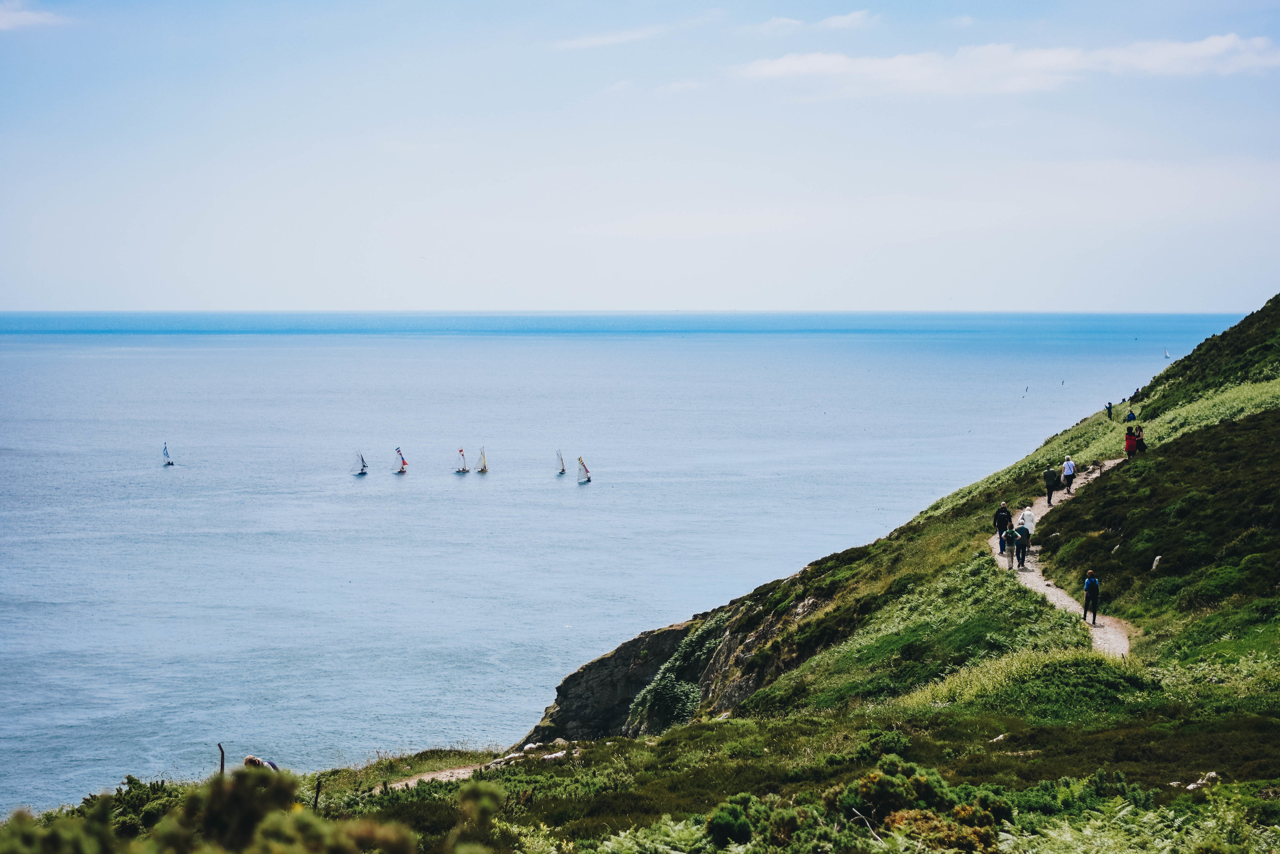 Sails and Cliffs | Howth, Ireland | June 2016