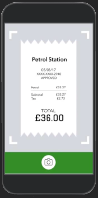 Enter your receipts into Quickbooks by simply taking a photo using your mobile phone