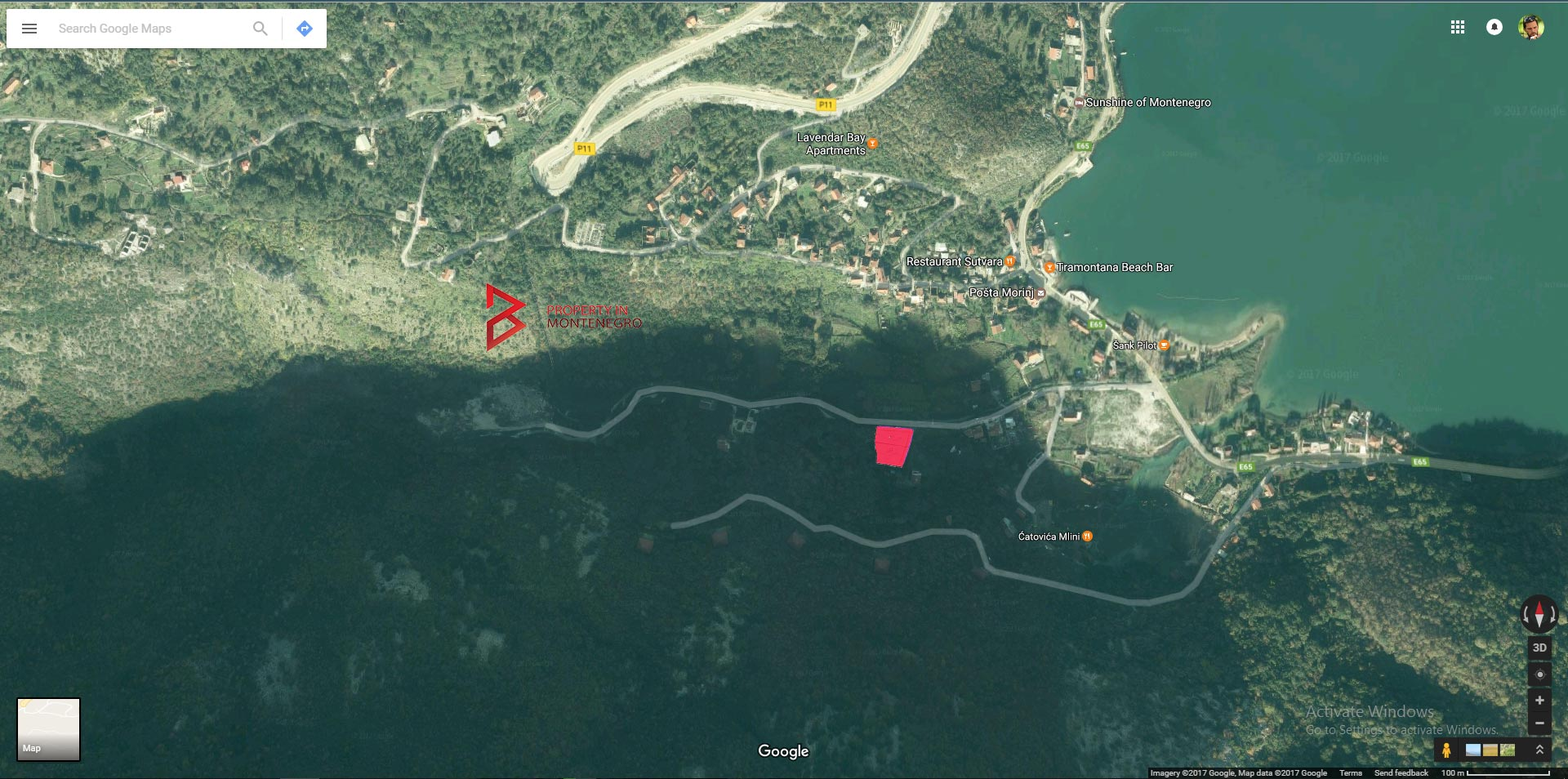 Land for sale in Boka Bay