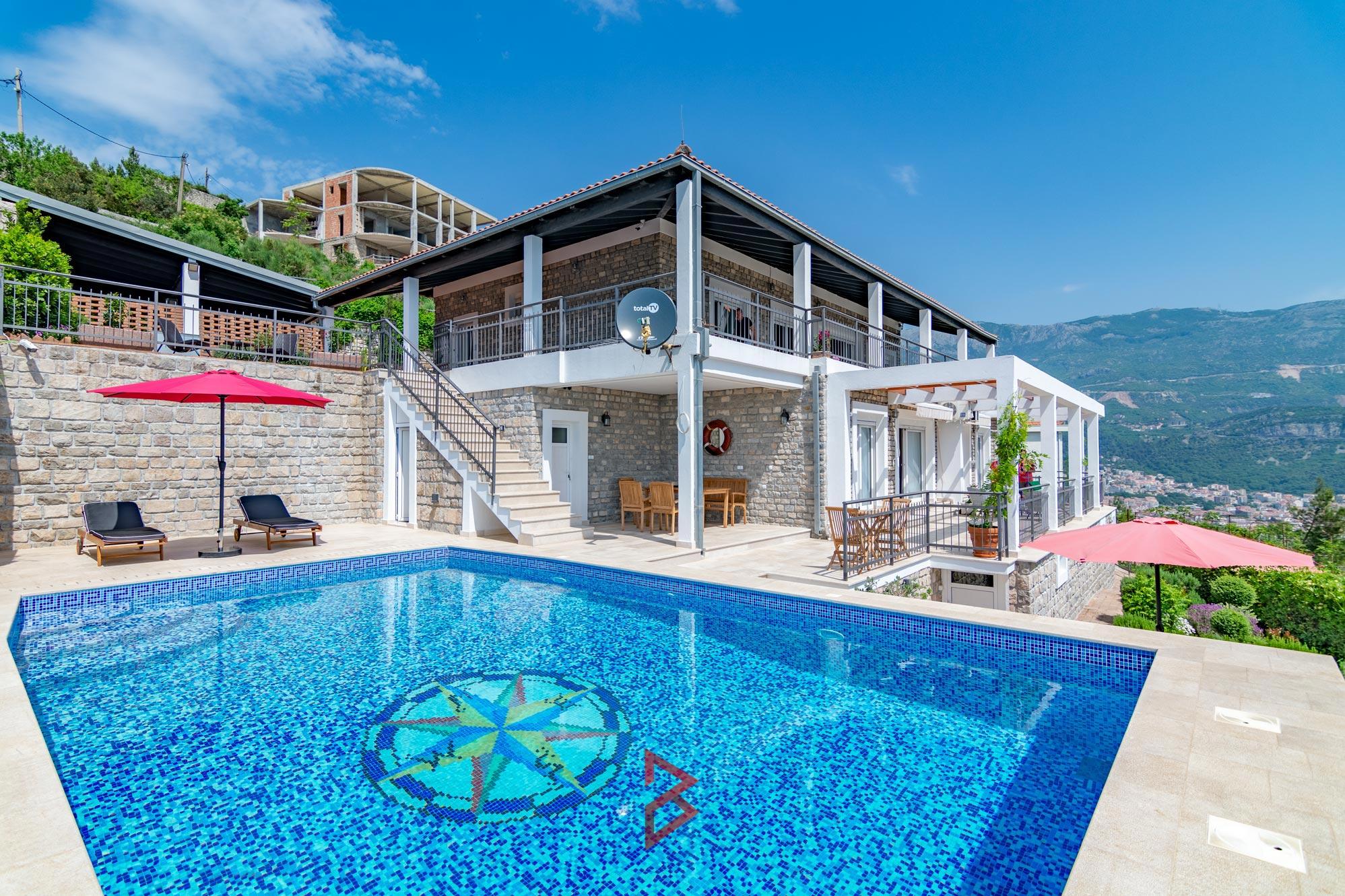 Luxury villa for rent in Budva