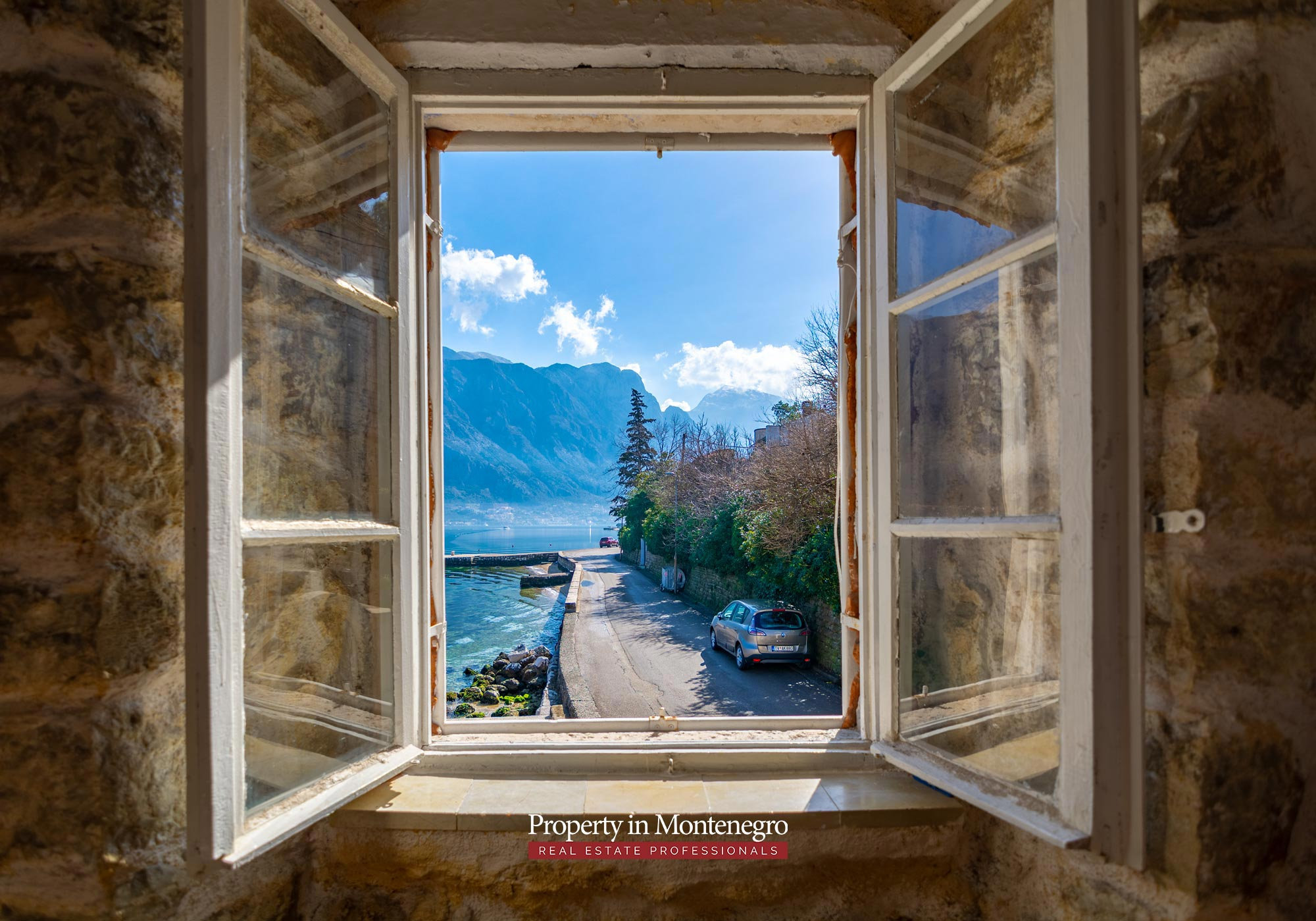 Waterfront stone house for sale in Kotor