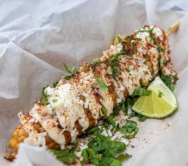 Have you tried our street corn? Get one today on the quad from 11-2:30pm! #streetcorn