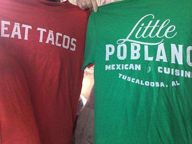 We're still in the heat of summer here at #Bama, which means you can't go wrong with a new t-shirt. Find these #LittlePoblano shirts at eatlocalroots.com