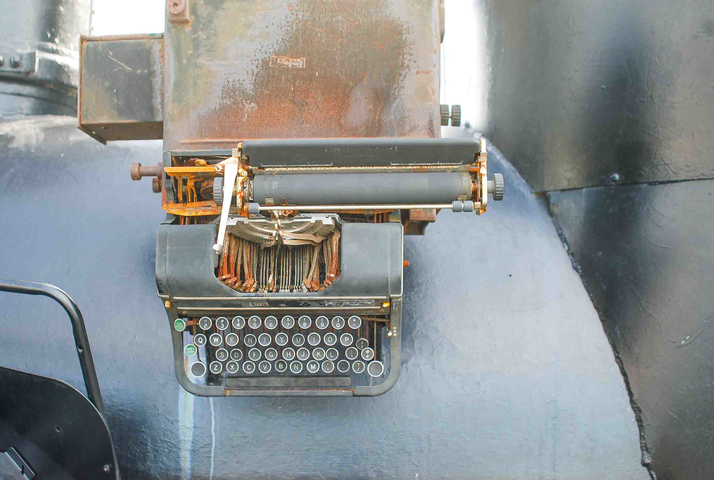 Typewriter detail on the Great Locomotive