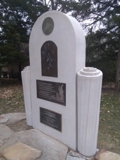 This is a side view that gives a sense of depth to the Memorial.