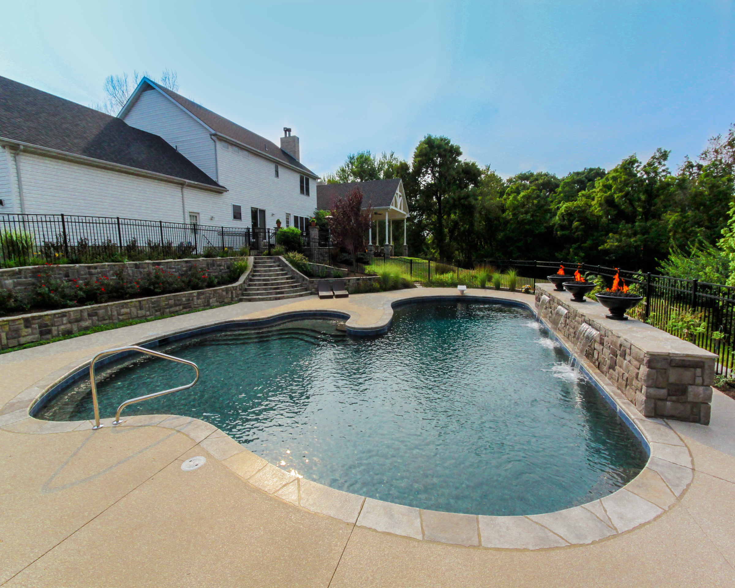 Gunite In Ground Pools Gunite Concrete In Ground Pool