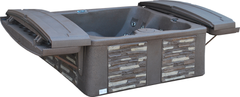 The Tuff Top from Tuff Spas is the lightest, easiest cover in the hot tub industry.  No other hot tub on the market is as light and durable while offering a  lifetime warranty.