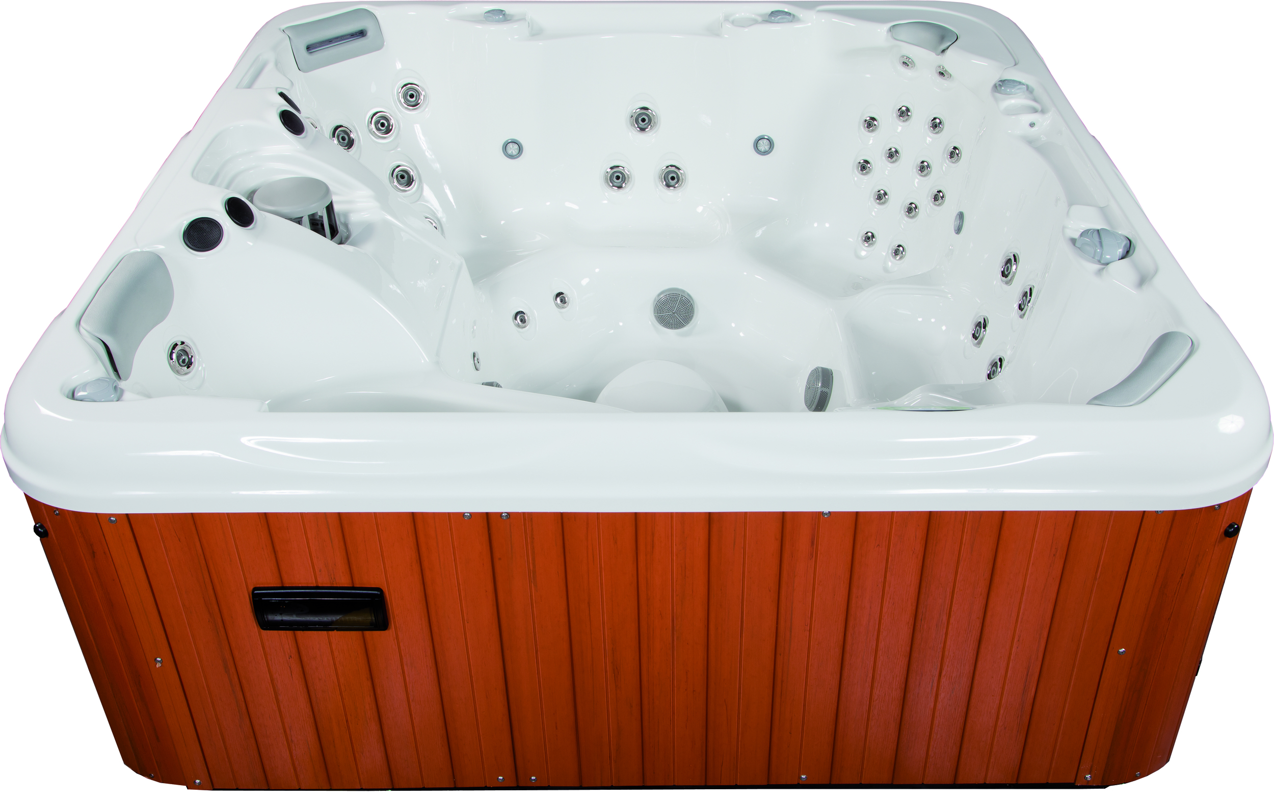 South Seas Spas offers the same look and feel of many high-end hot tubs on the market but at a more affordable price. Visit our showroom to have a seat in our demo models