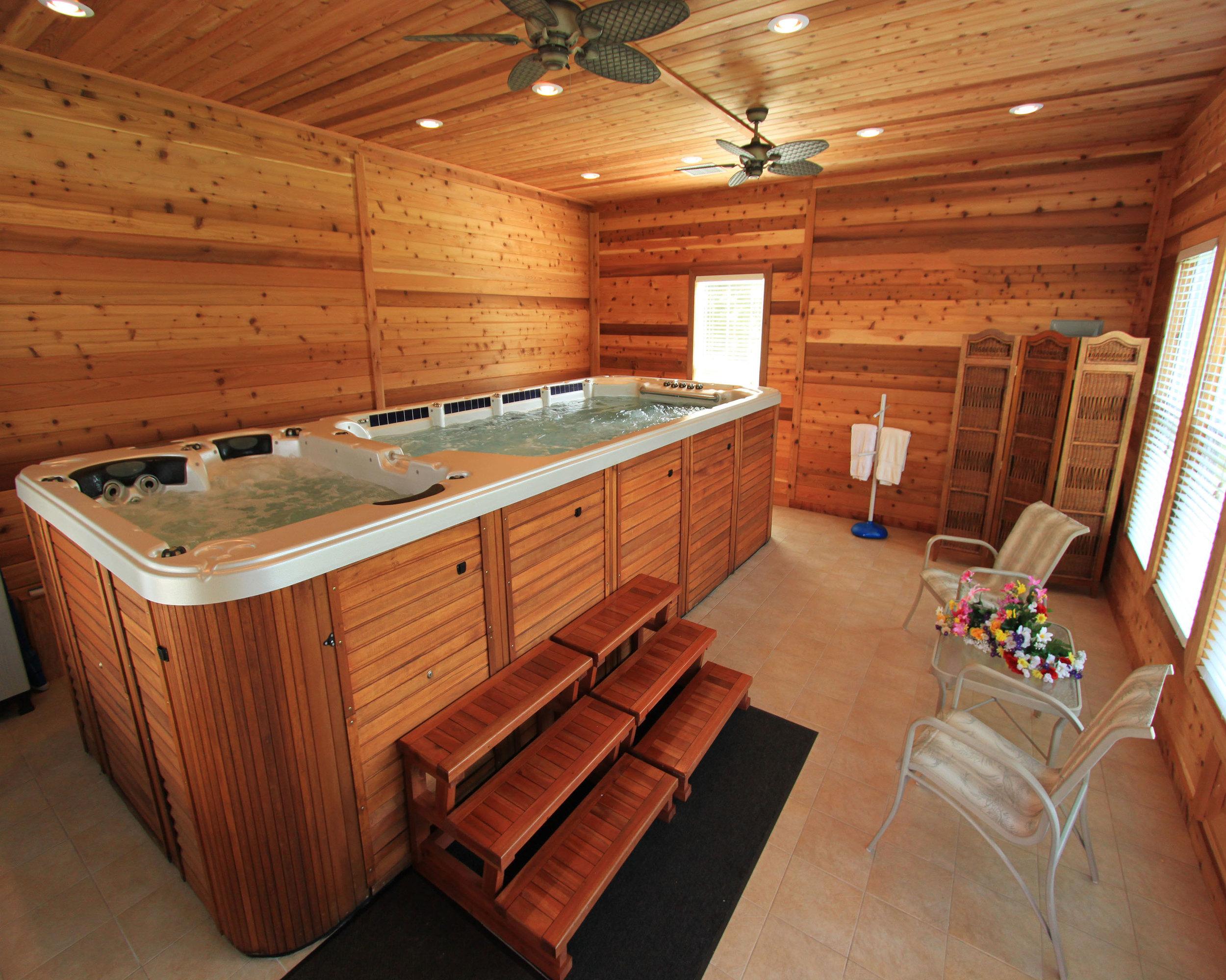 Enjoy a Swim Spa indoors....