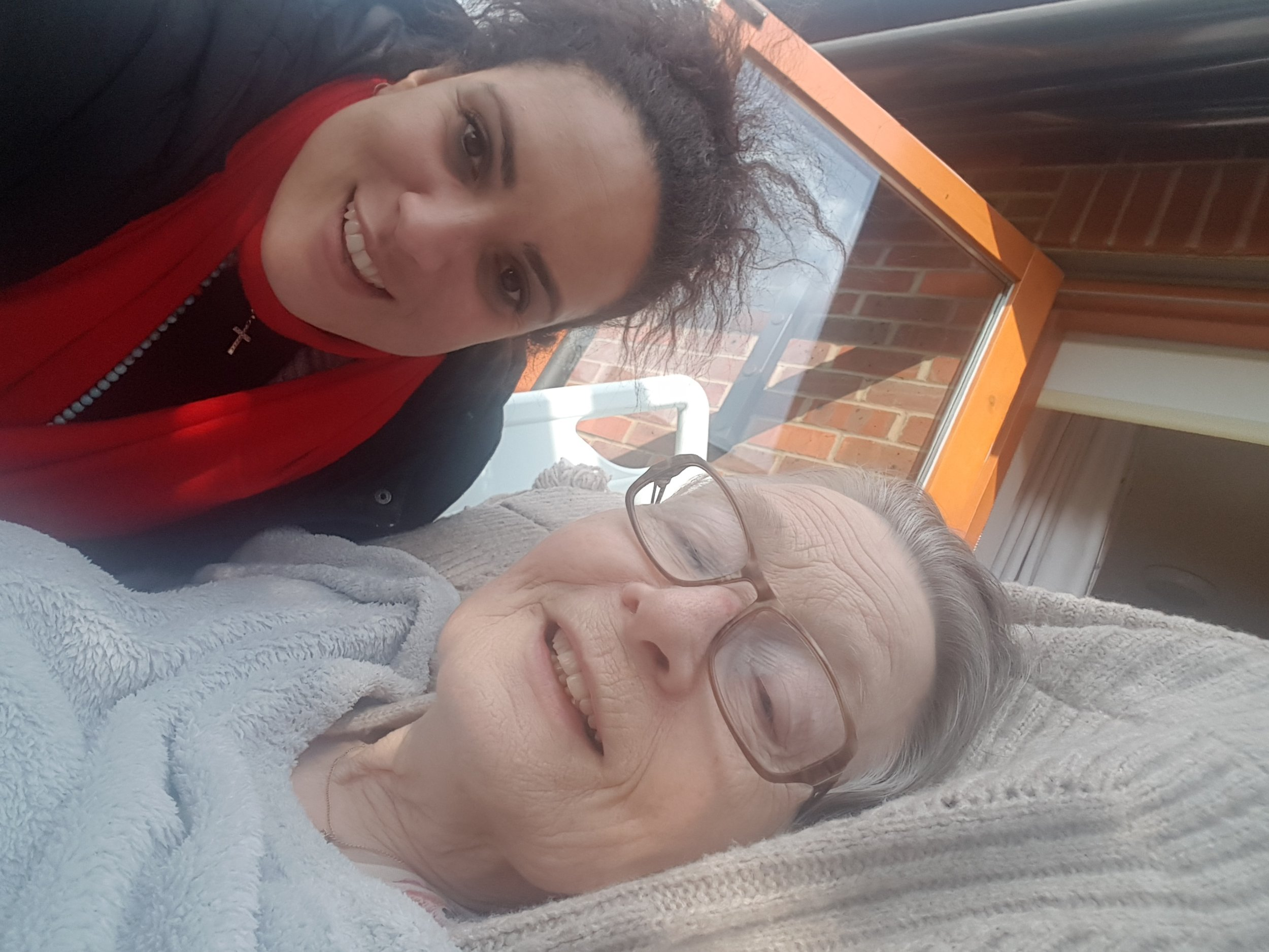 June and I at the hospice, March 2017