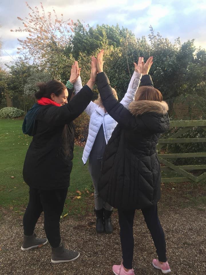 Ella, Jaclyn and Kate - we did it girls!