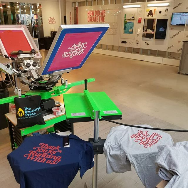 Live Printing today for @adidasrunning in Santa Monica, CA celebrating the launch of the amazing #ultraboost19