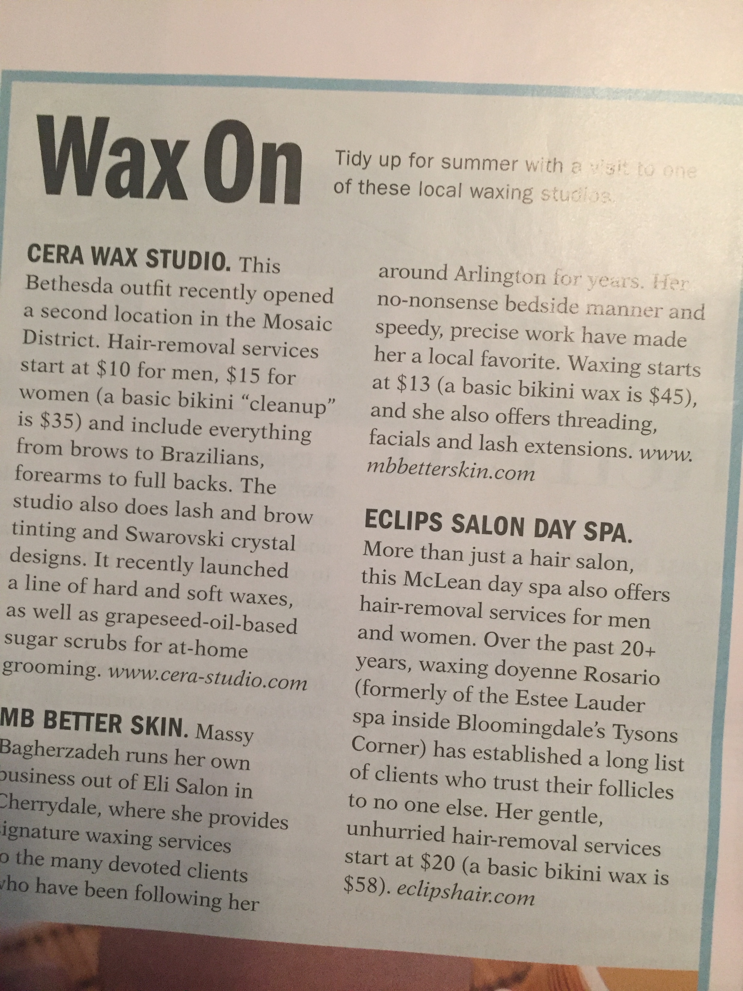 ARLINGTON MAGAZINE - Rosario and Eclips Mclean featured!