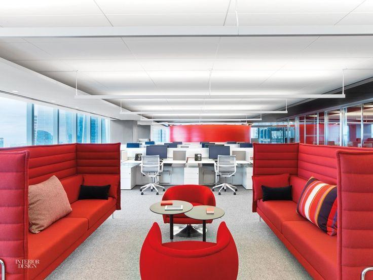 """""""Investir neste espaço ajuda o cliente a se tornar mais confortável, mais informado sobre a organização fora do espaço formal, disse o diretor da empresa de arquitetura Perkins+Will Inc. de Nova York."""