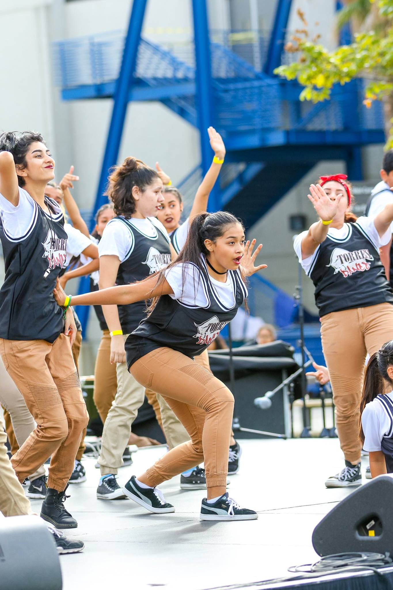 Rhythm Impact, EduCare's Dance Team from Esteban E. Torres High School performing at PATapalooza.   Photo by: Juan Alaniz