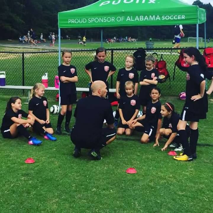 Mike Bissell coaches soccer.