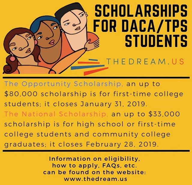 @thedream_us 💰🗣 Opportunity Scholarship  DUE; January 312019 National Scholarship DUE; February 28!! 👩‍🎓👨‍🎓📲