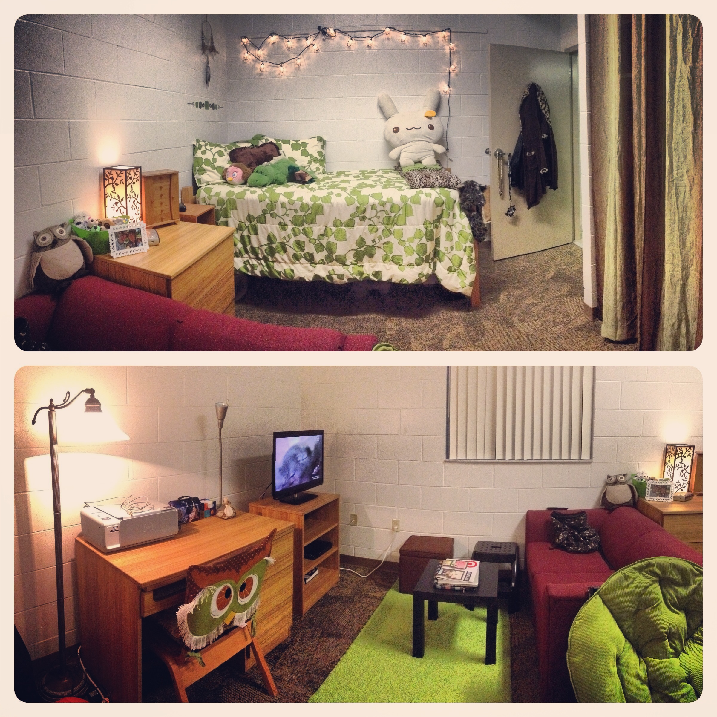 This was my second RA room. It was similar to a studio apartment with its own bathroom and kitchen.