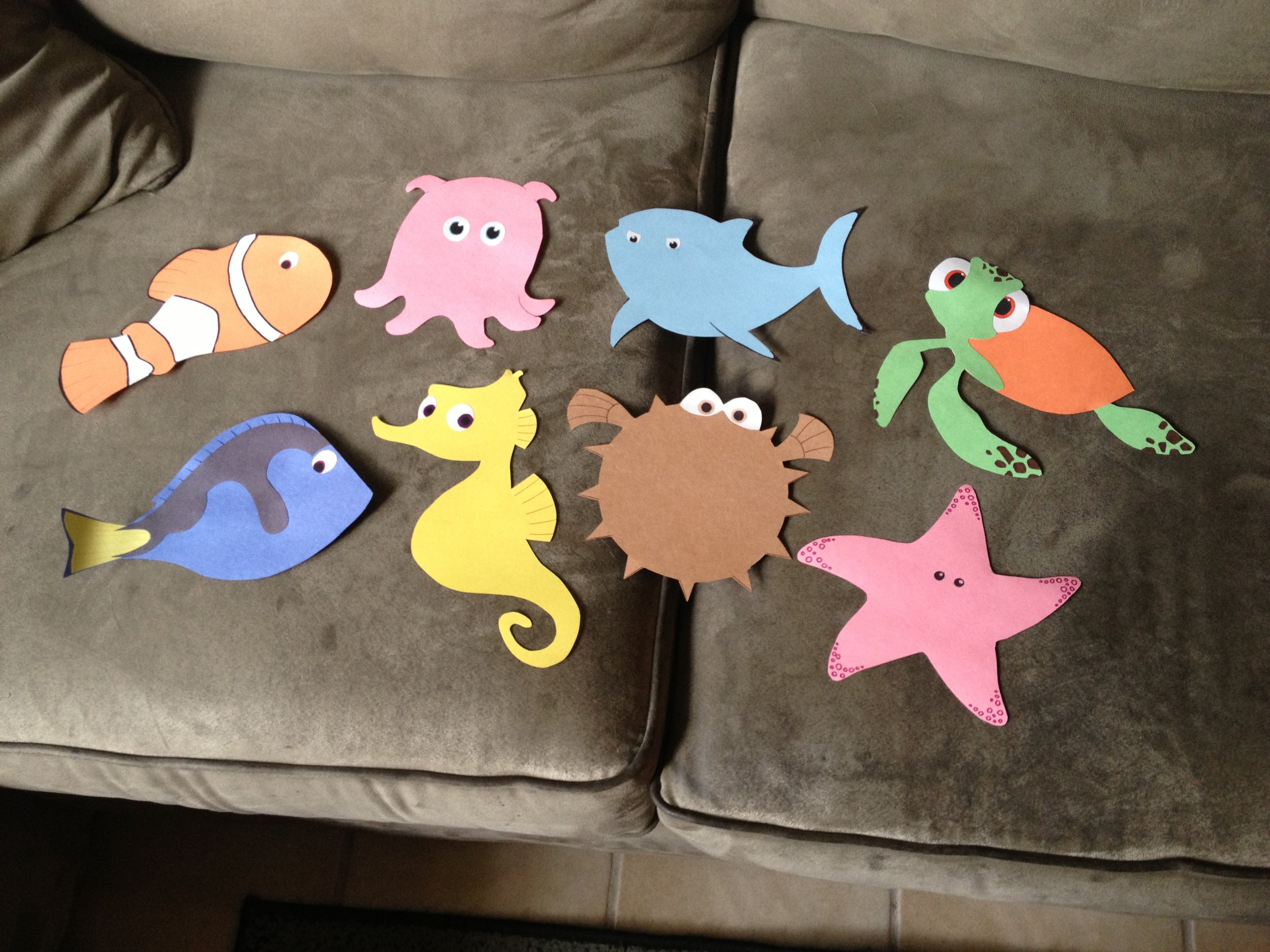 The original door decs made with construction paper
