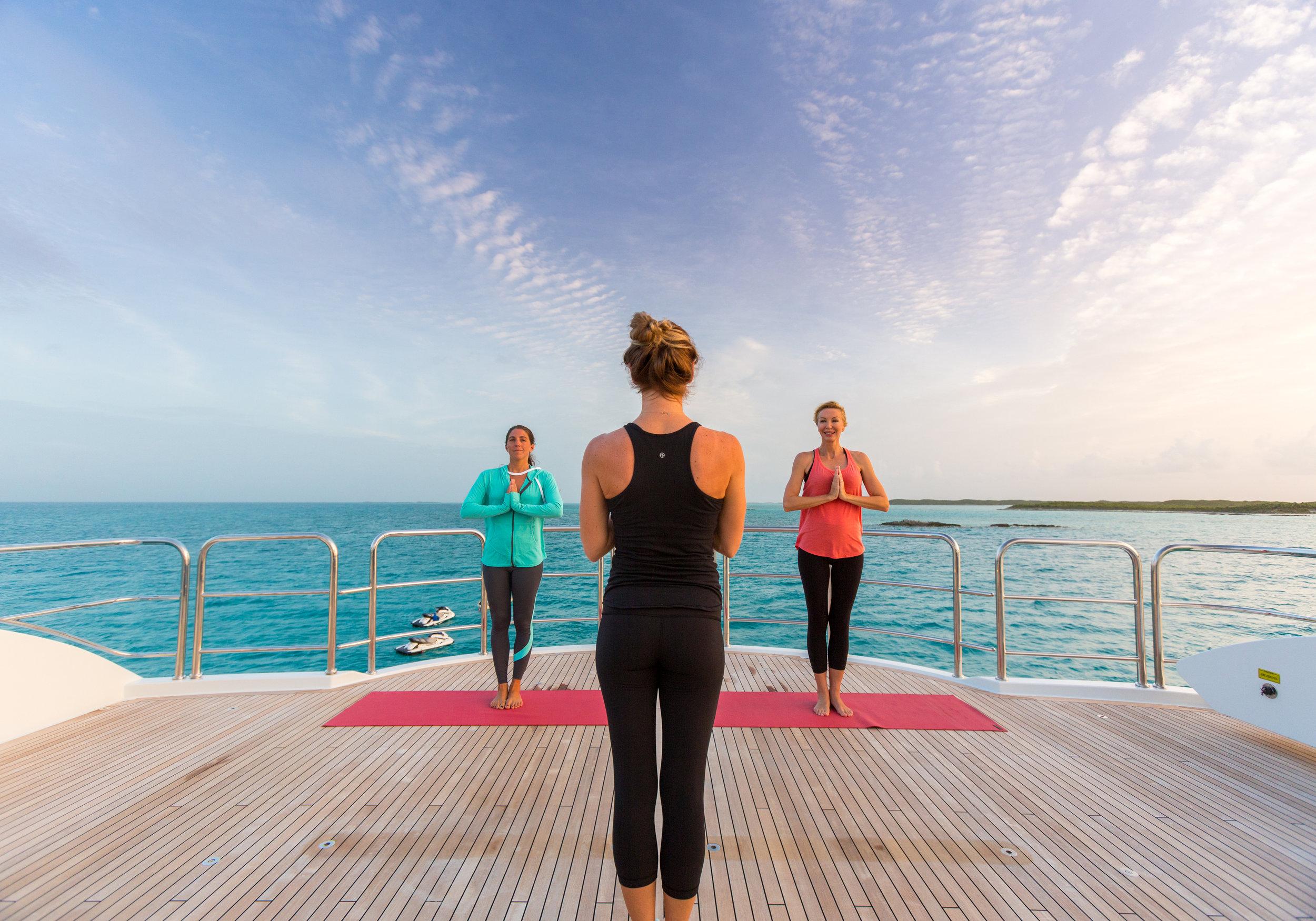 Enjoy a deep breath and a mindful moment amidst the Caribbean beauty