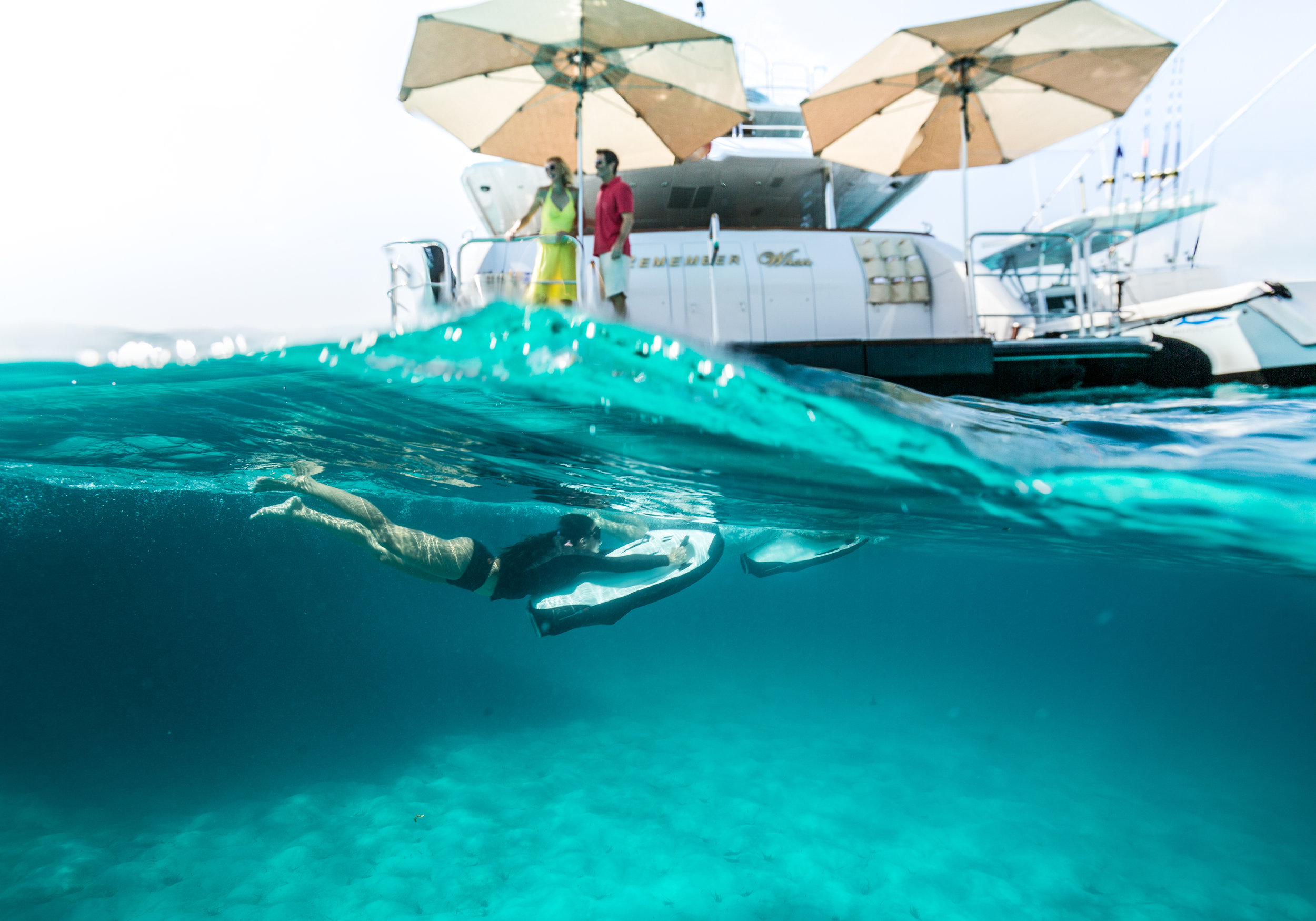 The Seabobs provide endless fun over and under the water