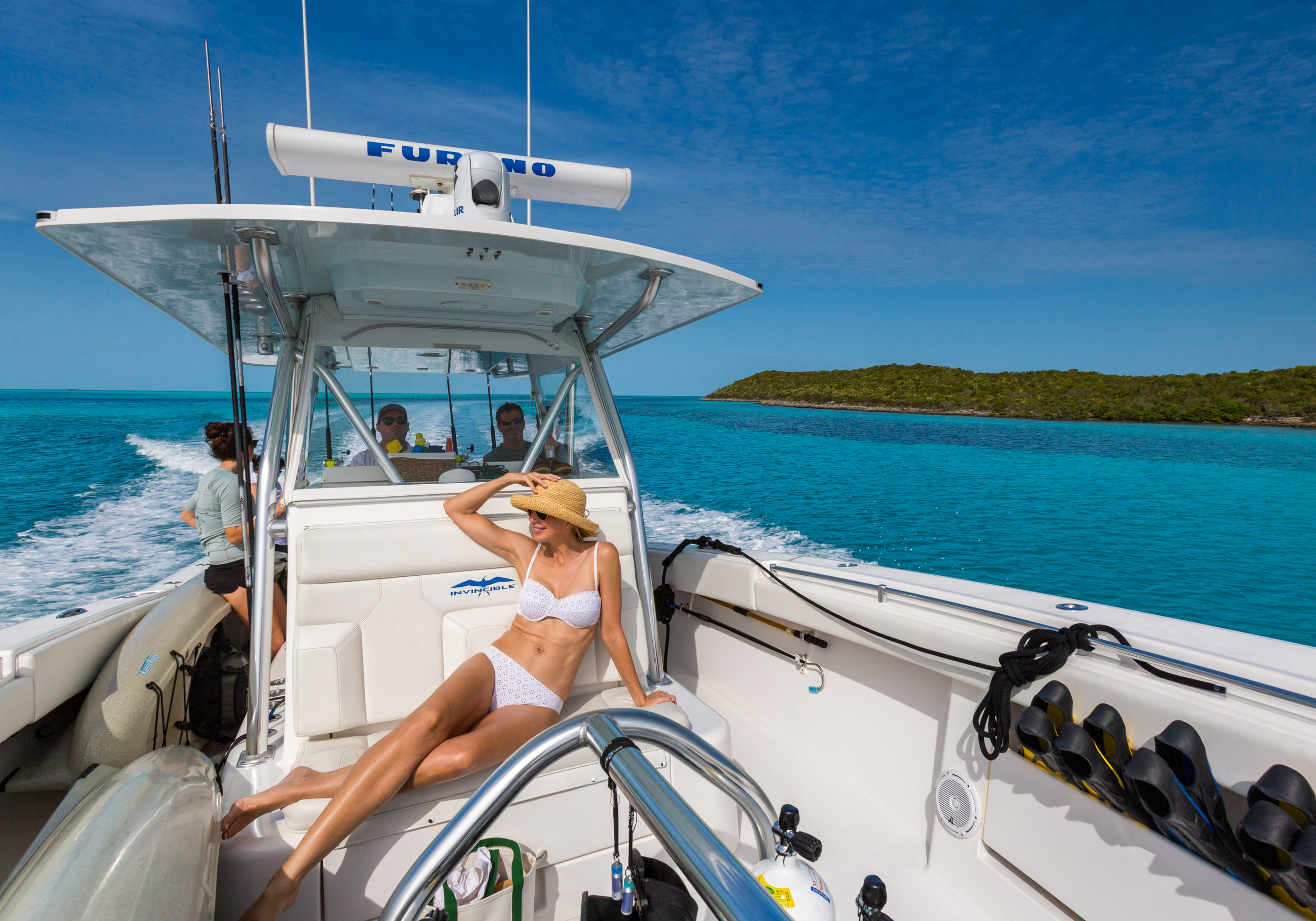 Every day offers a new adventure, the 42'Invincible Tender is ready to take you anywhere