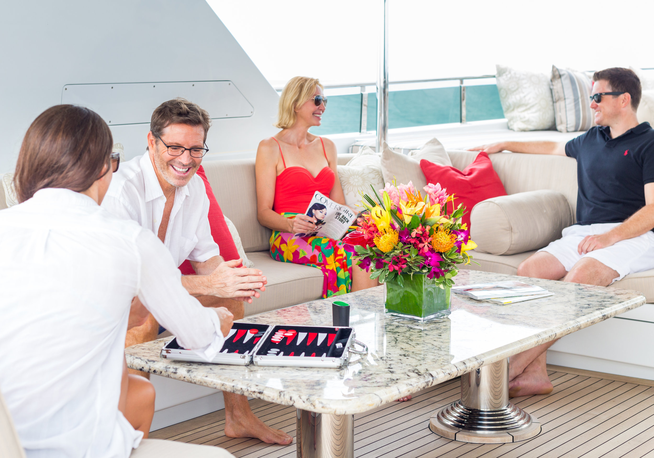 After the day's activities relax in the sundeck