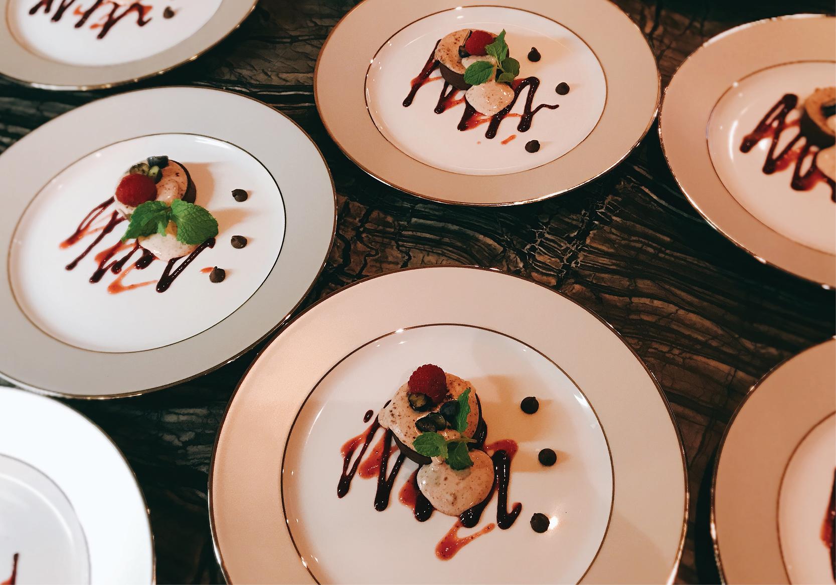 Vanilla and Chocolate Crumb Cheesecake with Blueberries