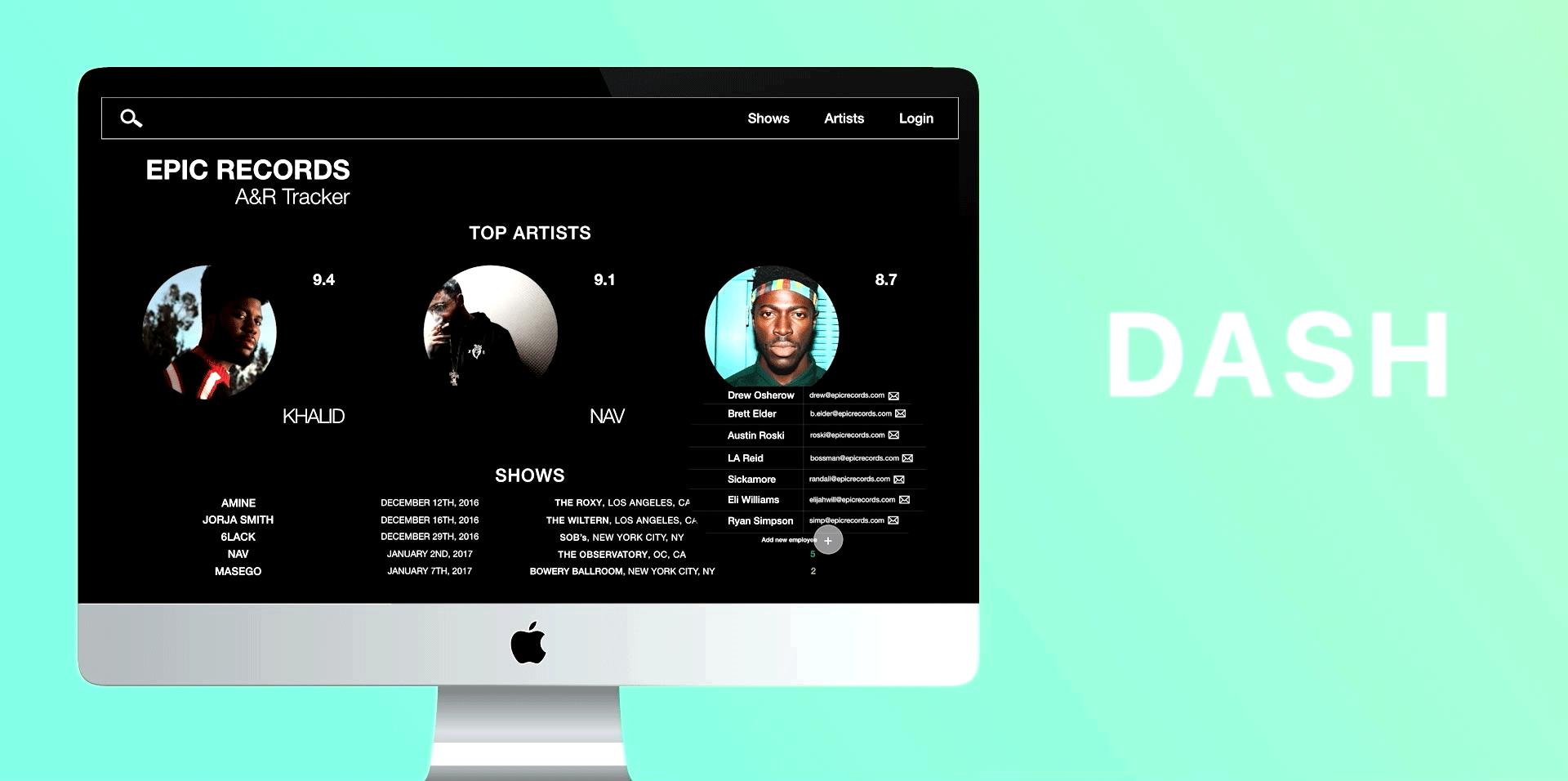 MusicDB Analytics Platform - Prototyping a new platform from scratch that minimizes task flows