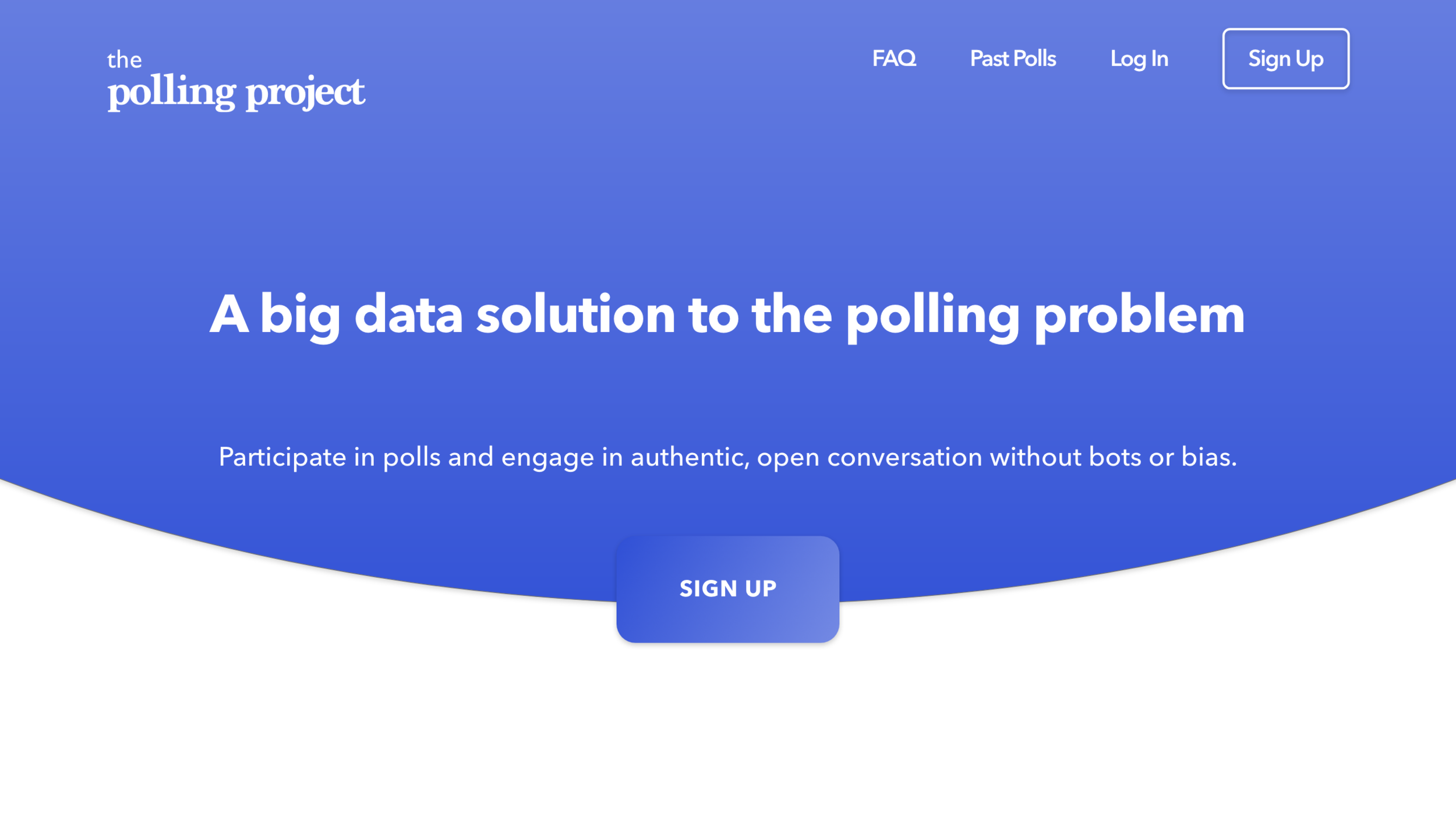 The Polling Project - Front-end development work and prototyping