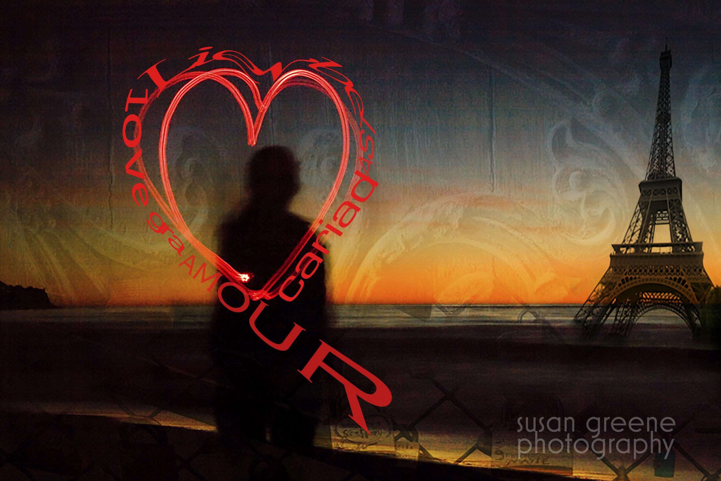 heart and eiffel