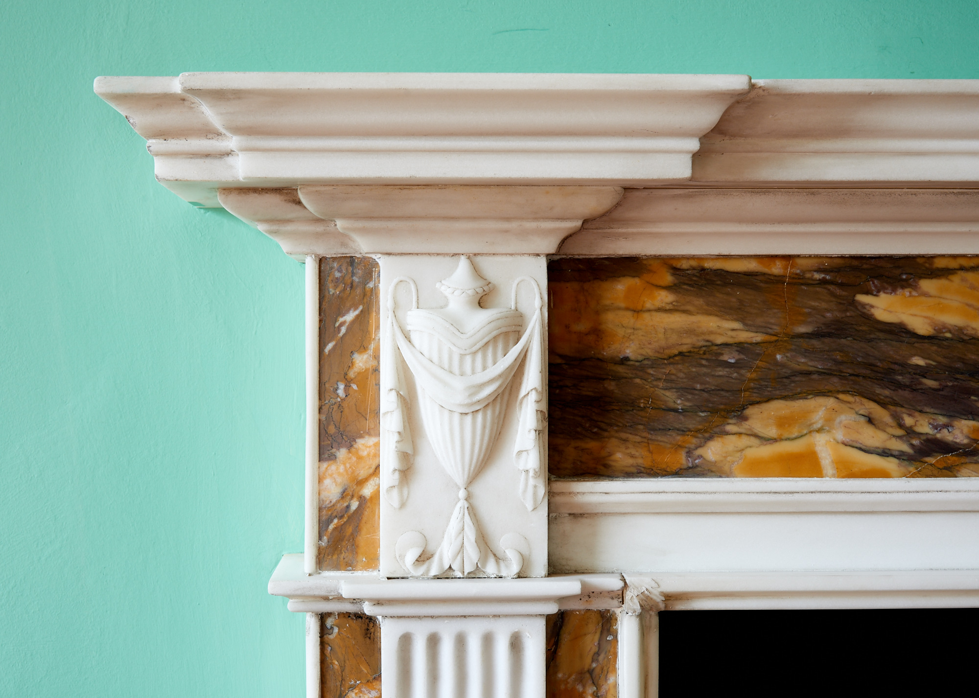Alan Turkington Interiors Marble Fireplace.jpg