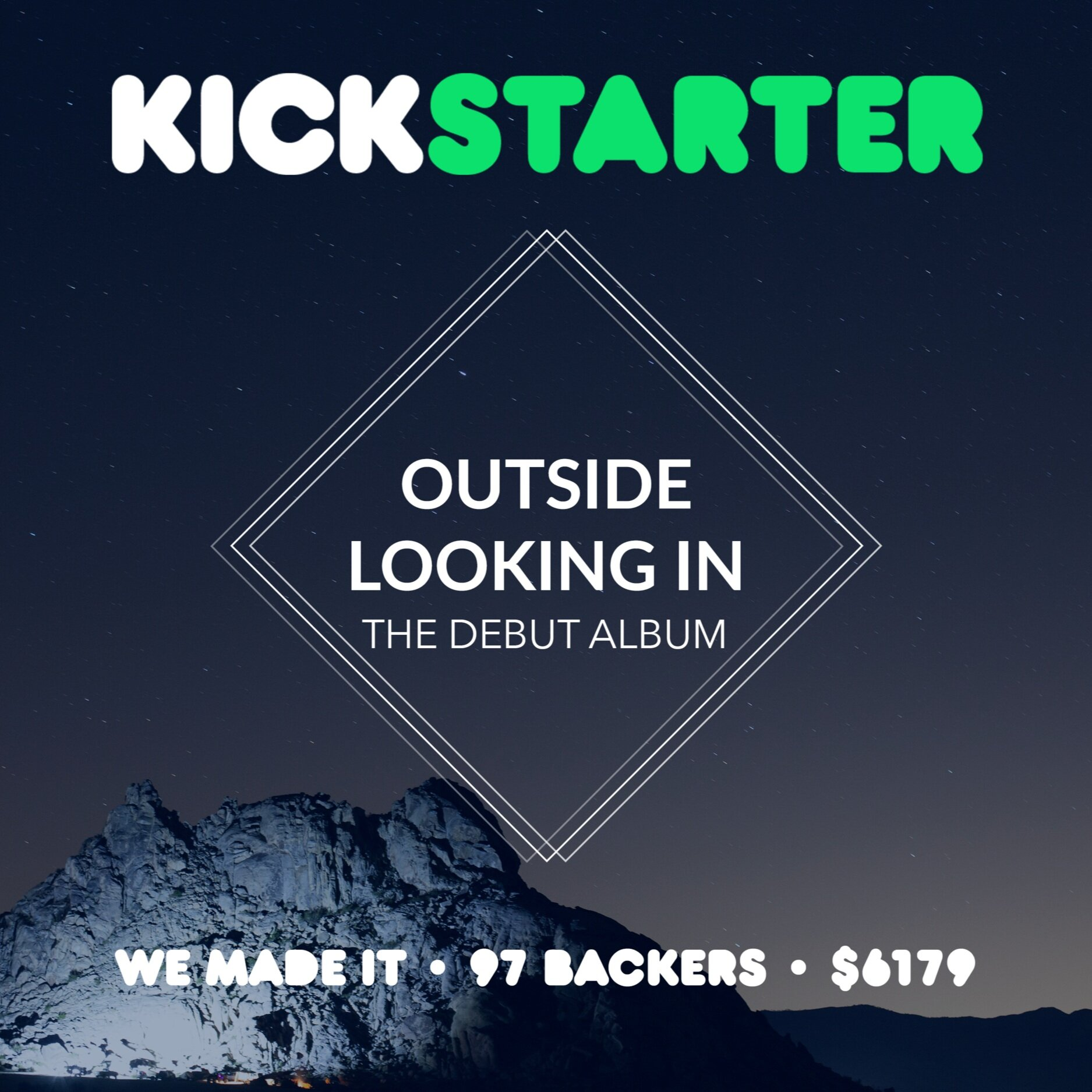 $6000 in 14 days… - My first kickstarter made it all thanks to my amazing music family and community.