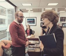 Speaking with Senator Lisa Murkowski