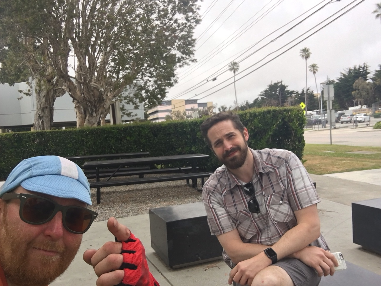 My friend Toby, from Washington, PA, found me in the middle of Santa Cruz!