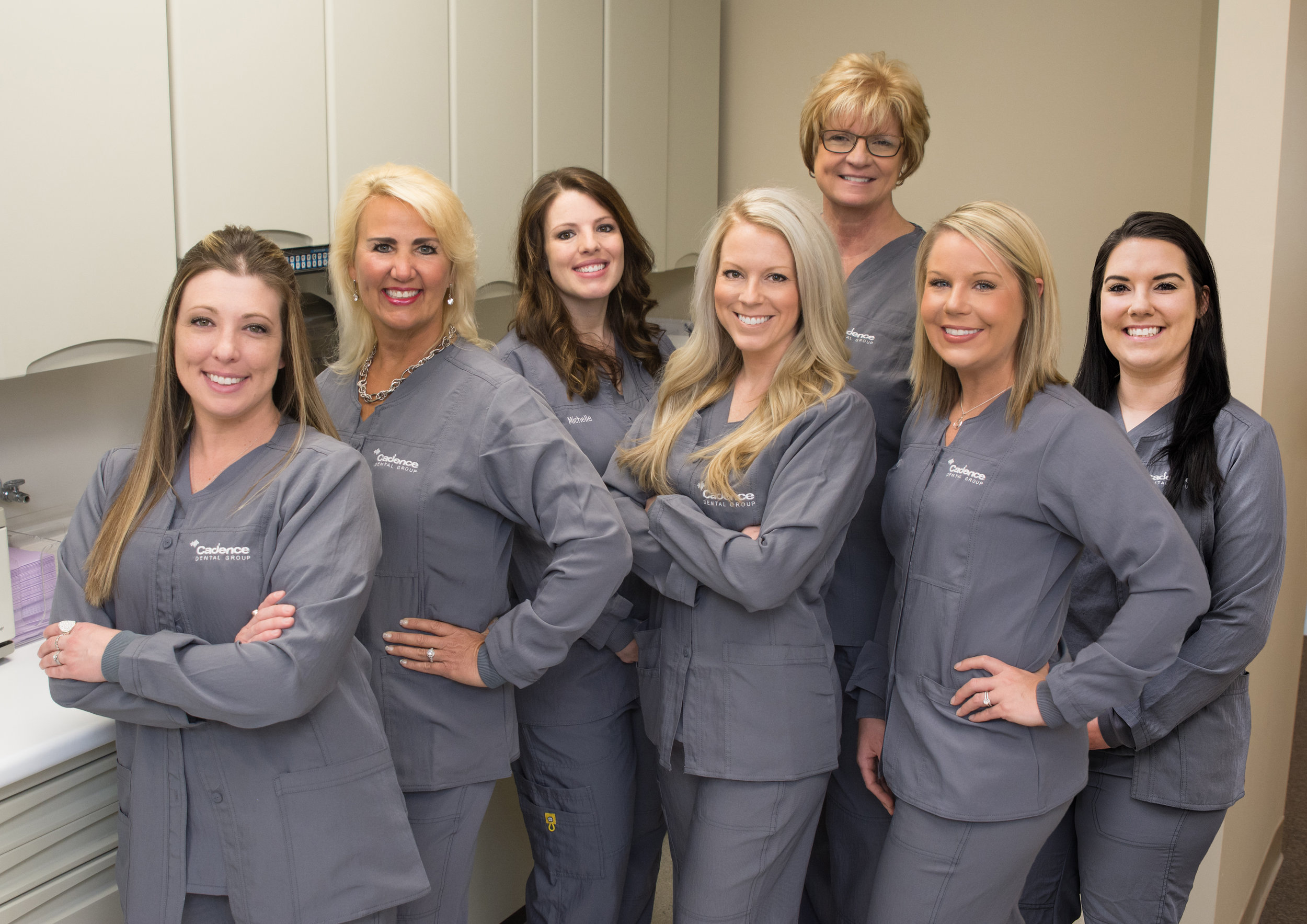 Your Expanded Function Dental Assistants (EFDA): Amy, Melinda, Michelle, Nikki, Cathy, Cat and Rebekah