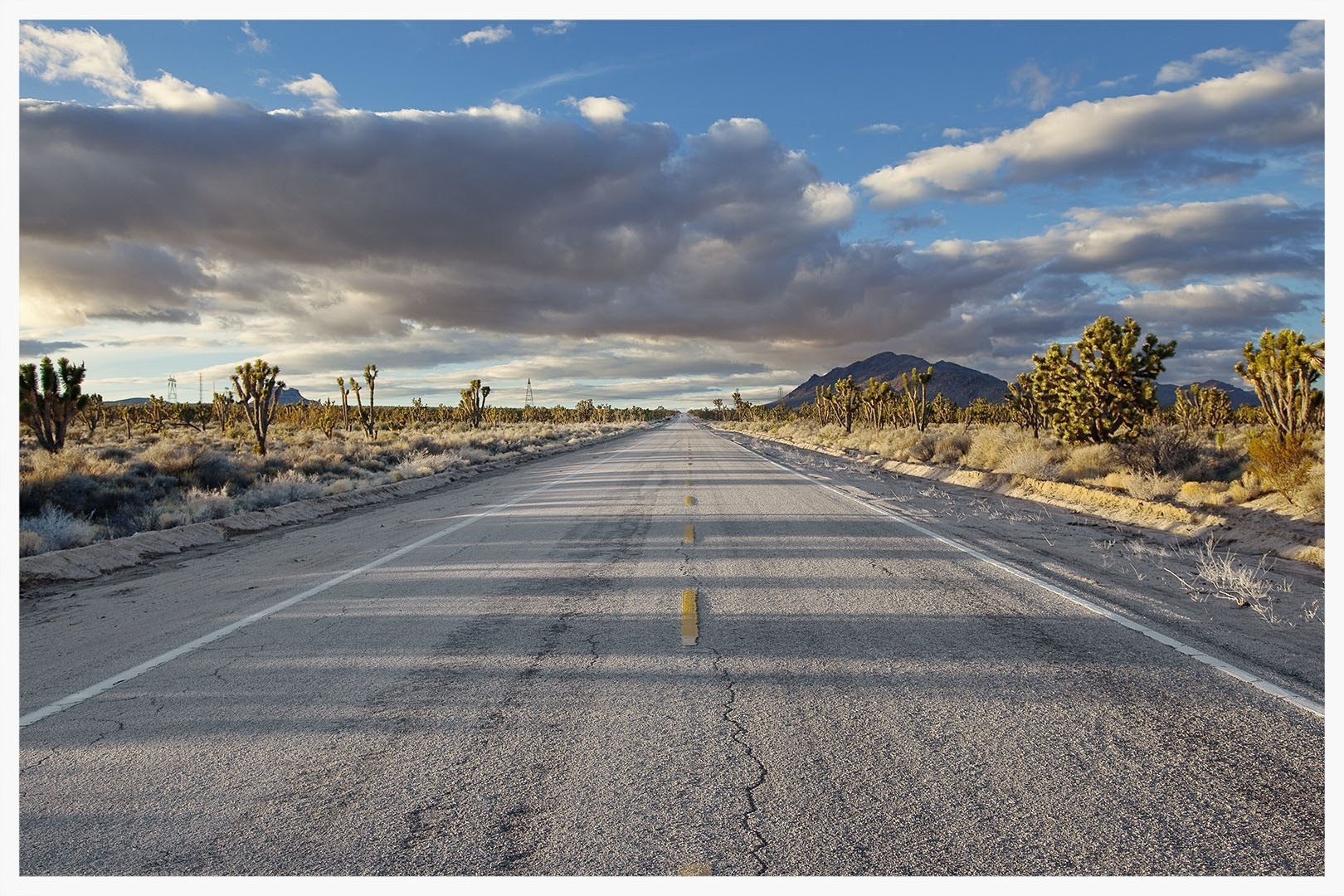 The Road Goes Ever on and On, Mojave Desert