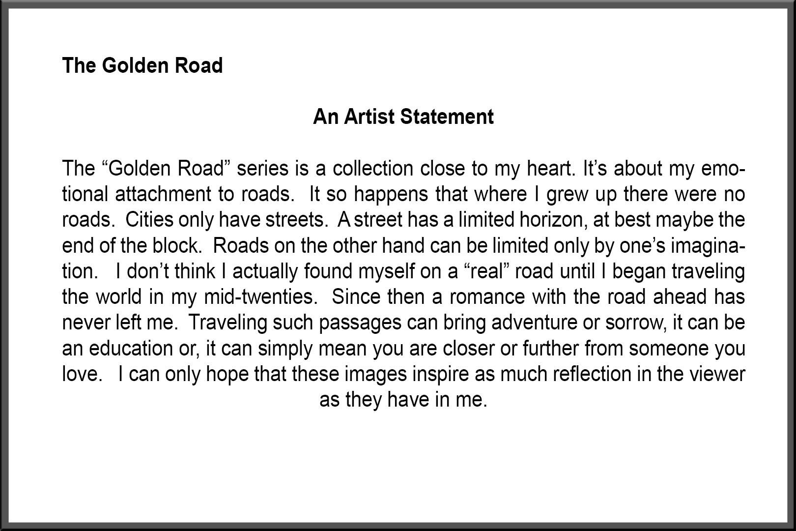 Golden Road Artist Statement.jpg