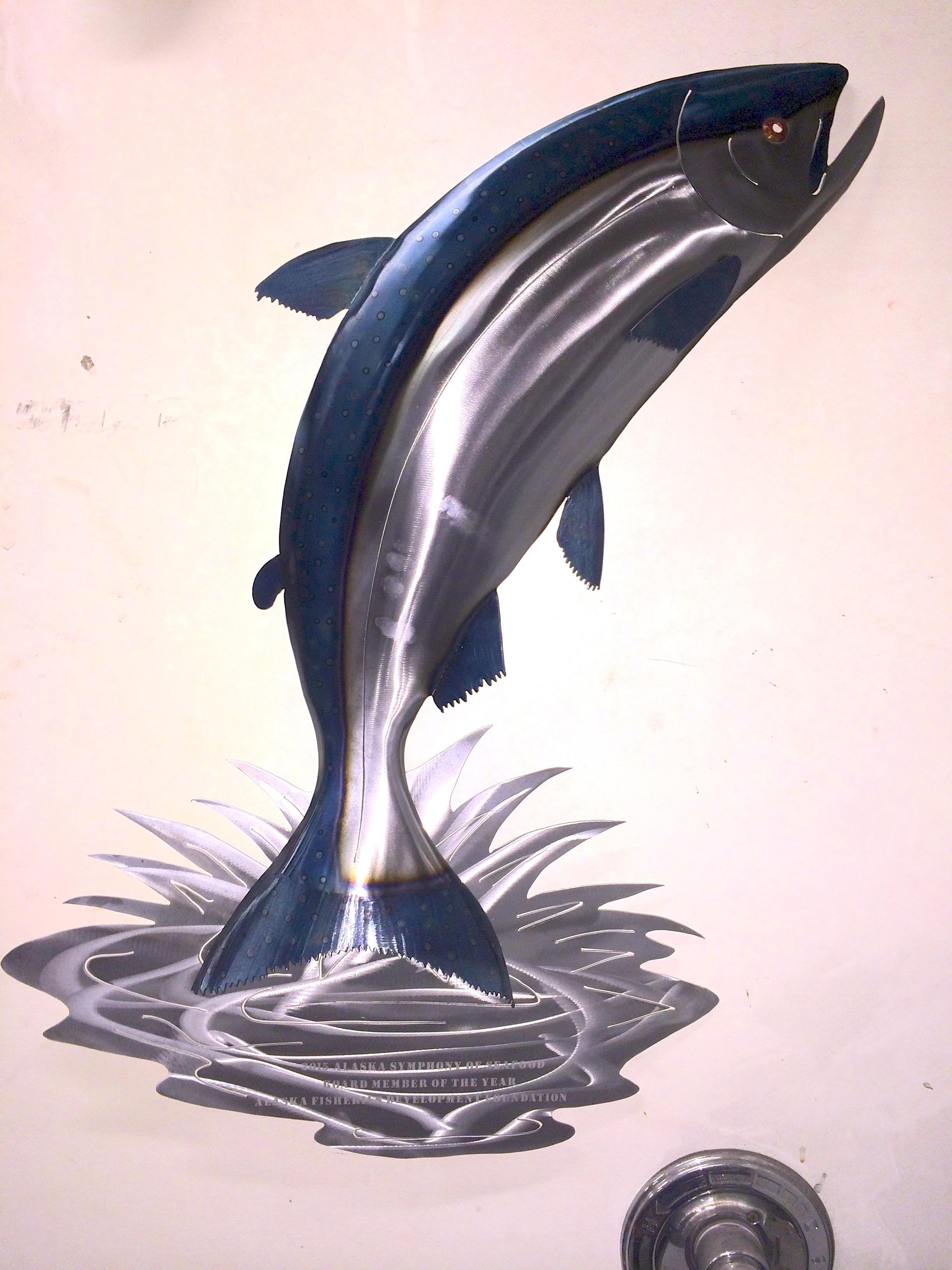Leaping Steel Salmon