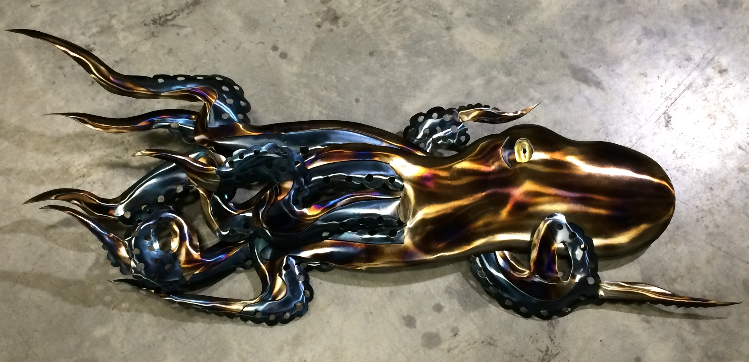 Steel Swimming Octopus