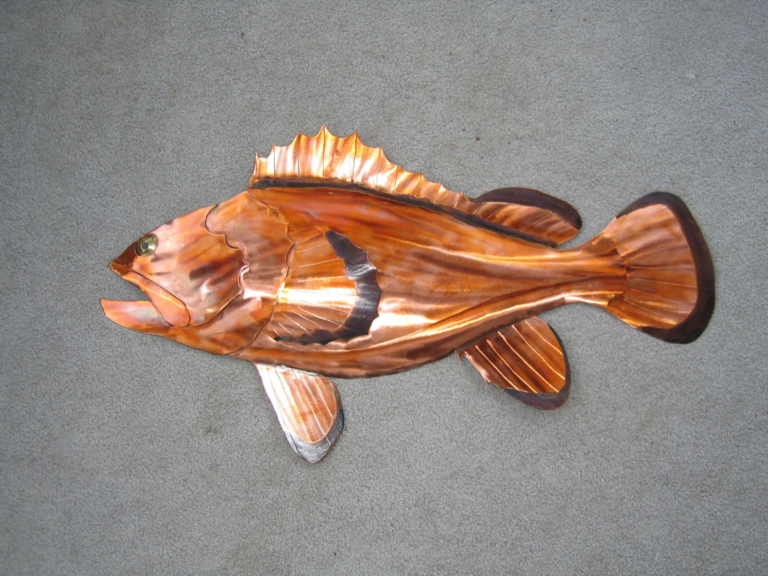 Copper Rockfish With Black Patina