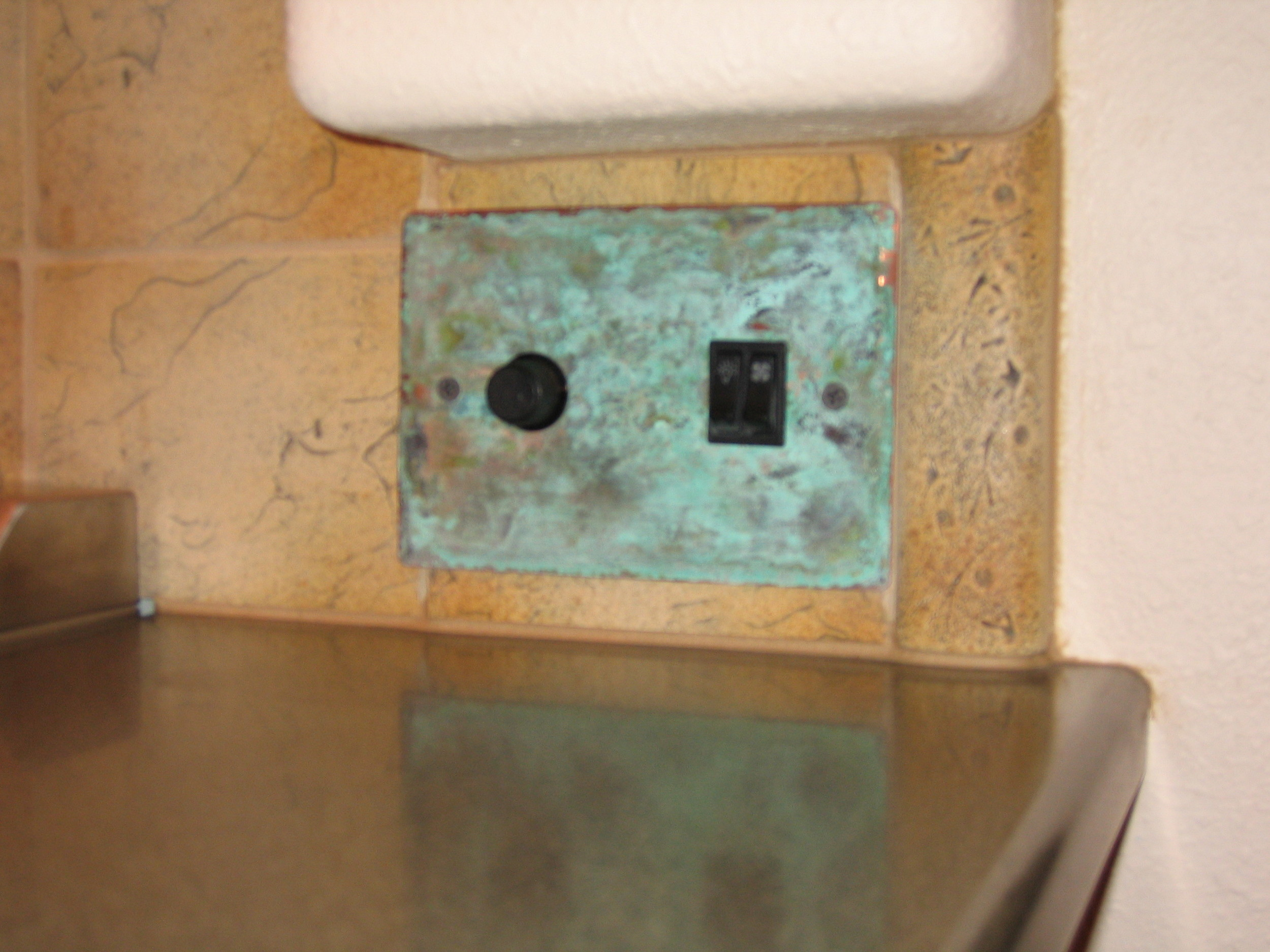 Custom Copper Switchplate Cover