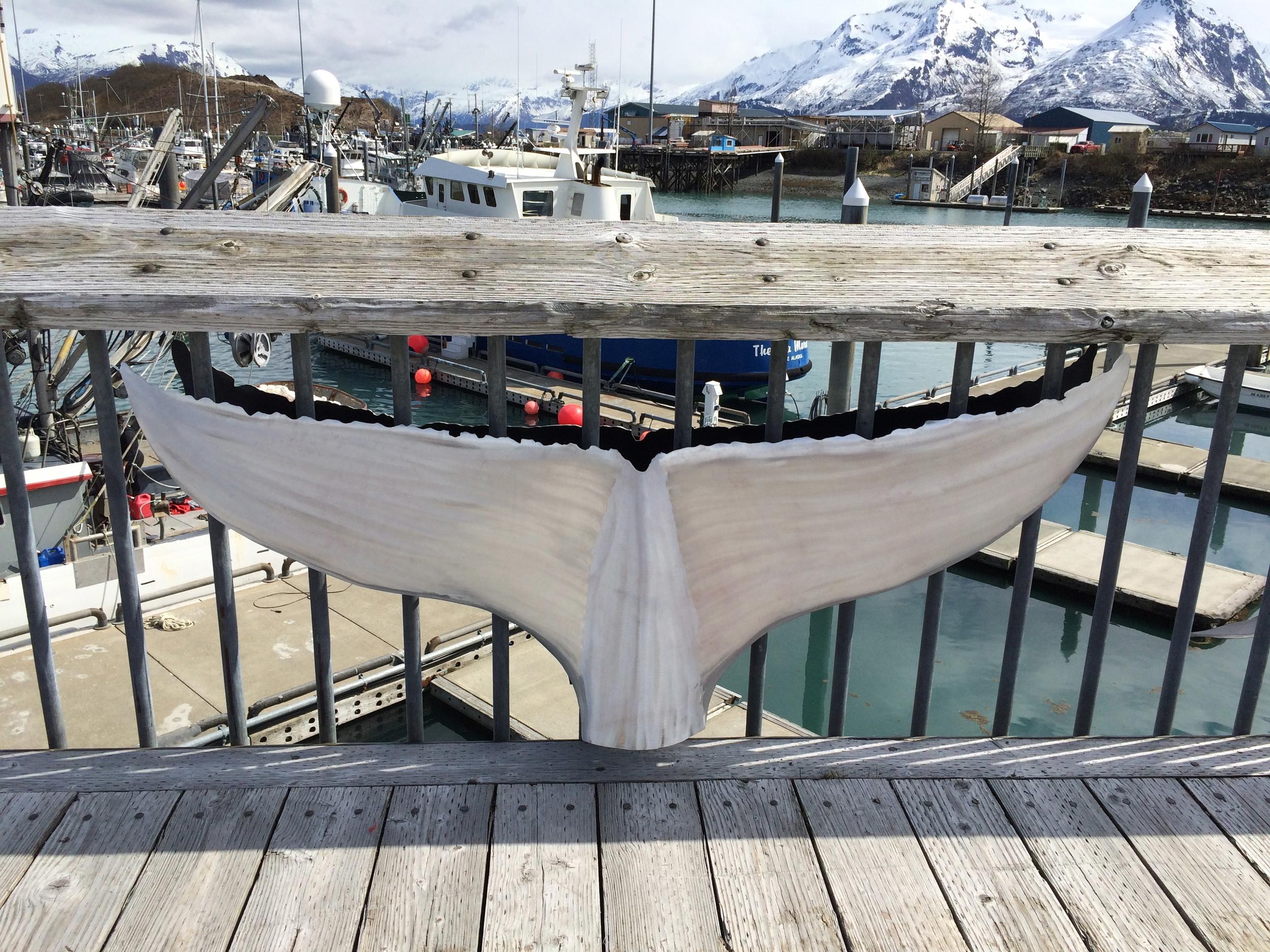 Aluminum Whale Tail At Valdez Boat Harbor