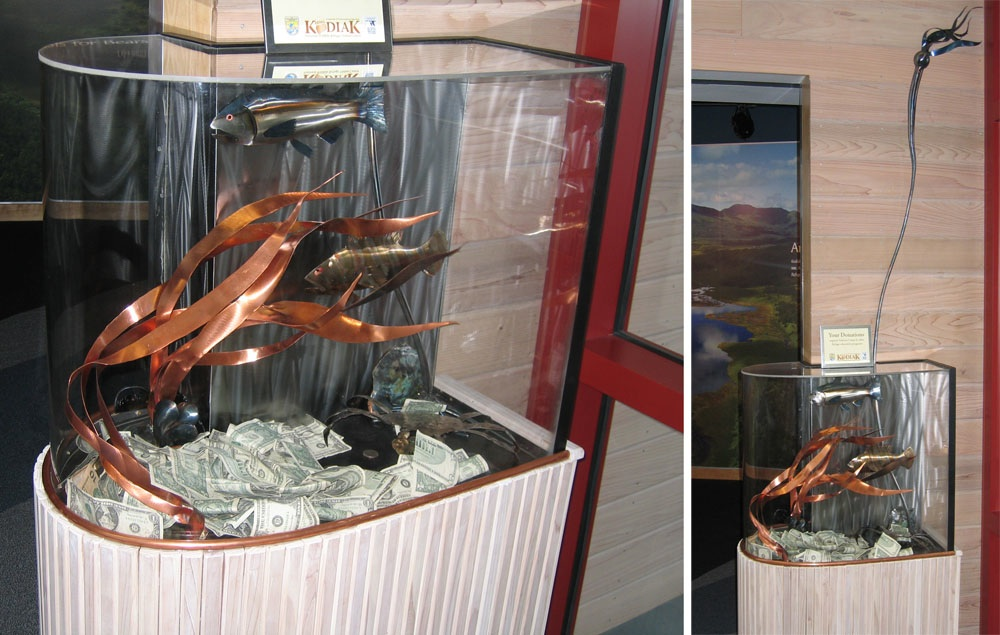 Donation Box At The Kodiak National Wildlife Refuge Visitor Center