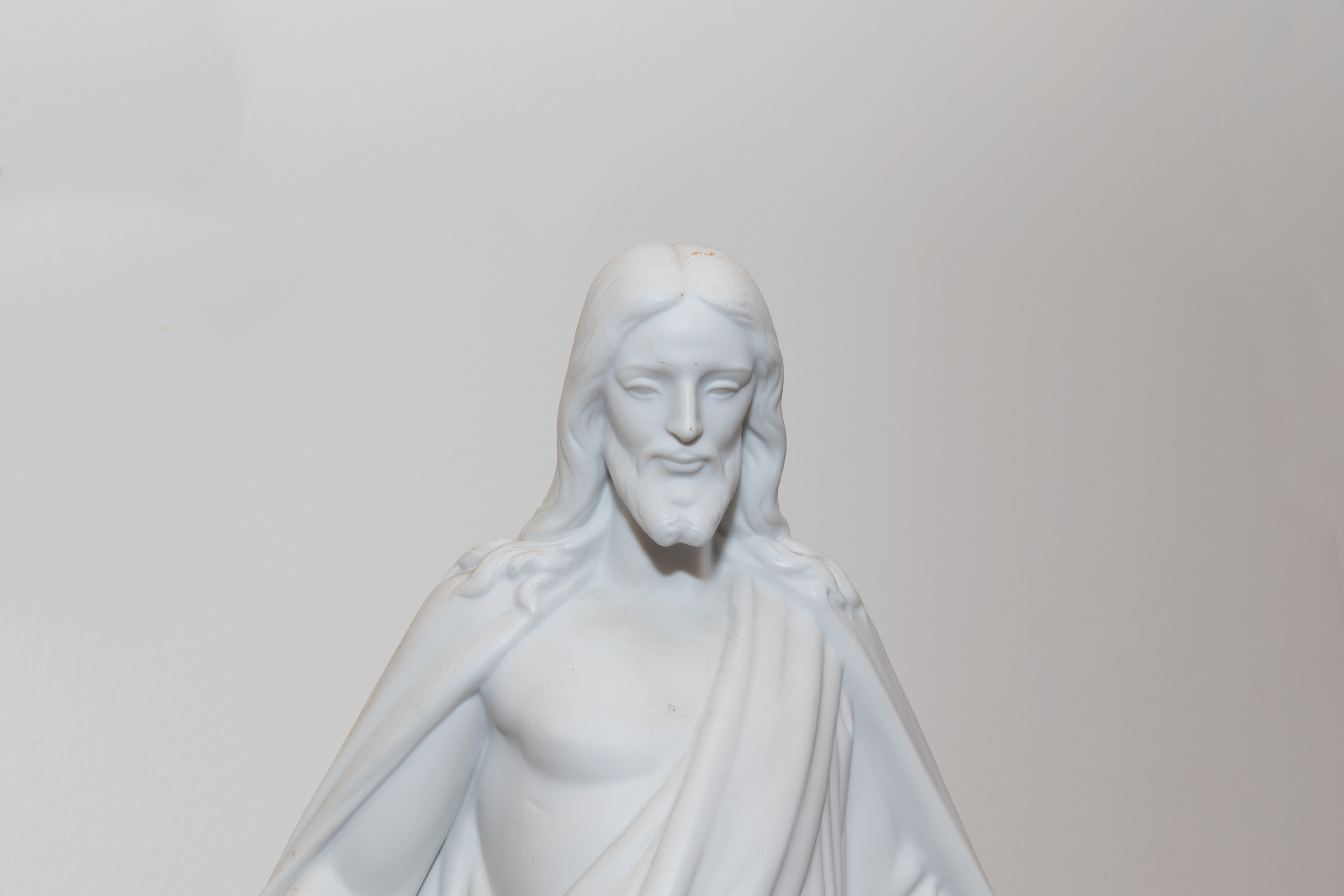 Lladro Christ statue in narthex