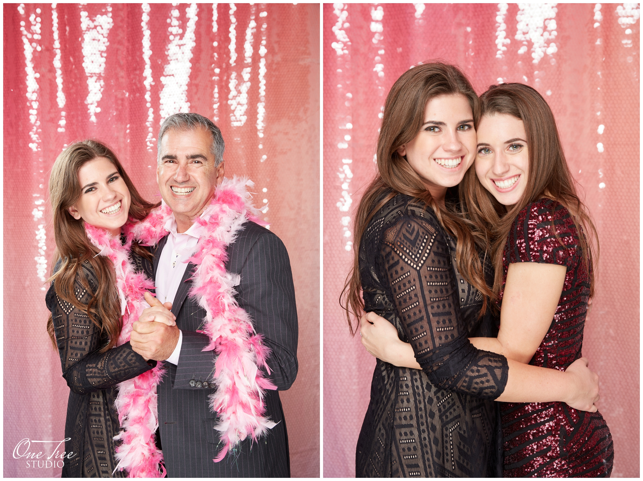 Pink Ombré Sequin Backdrop  (Taken with the Pro Studio Booth)