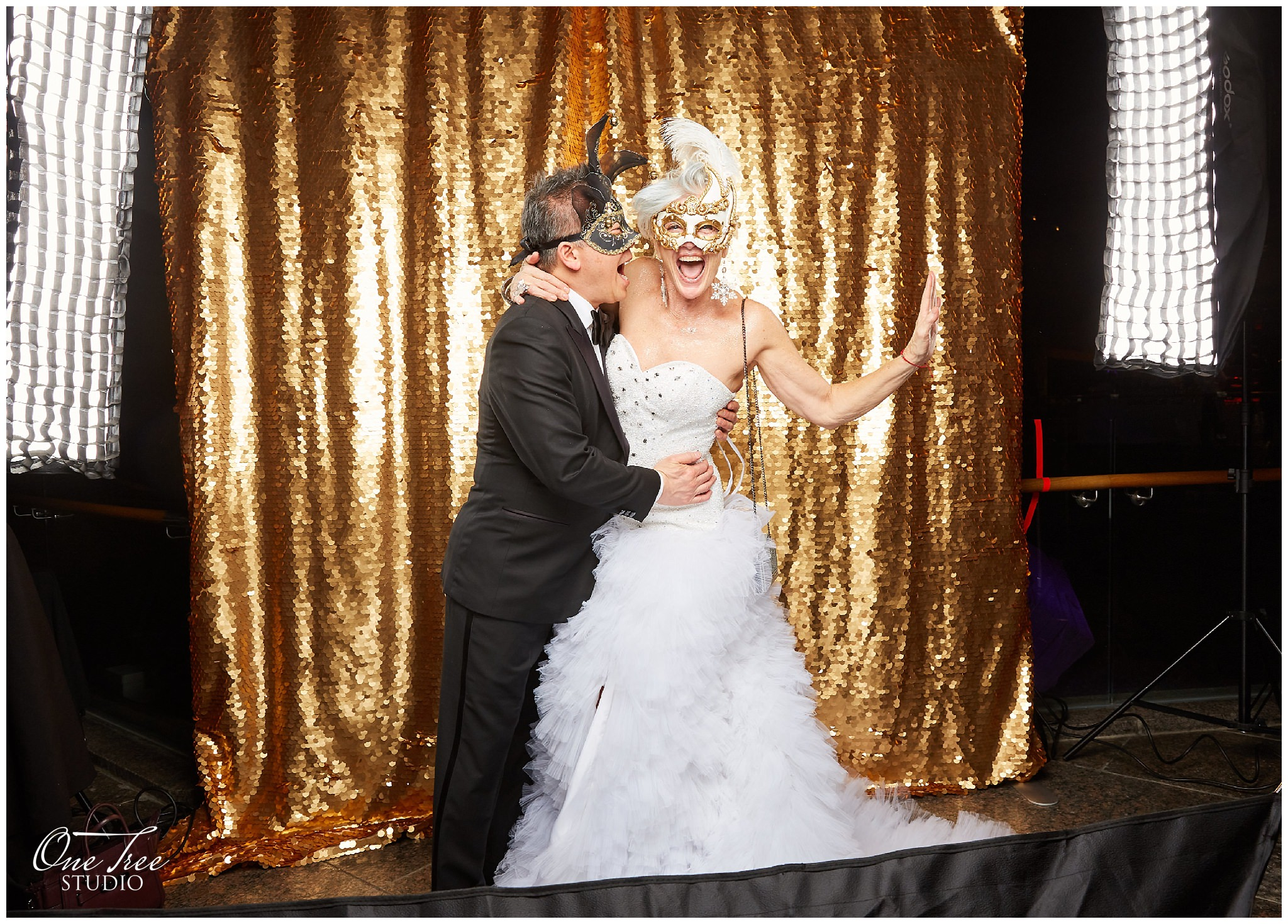 Luxury Photo Booth at Masquerade Ball