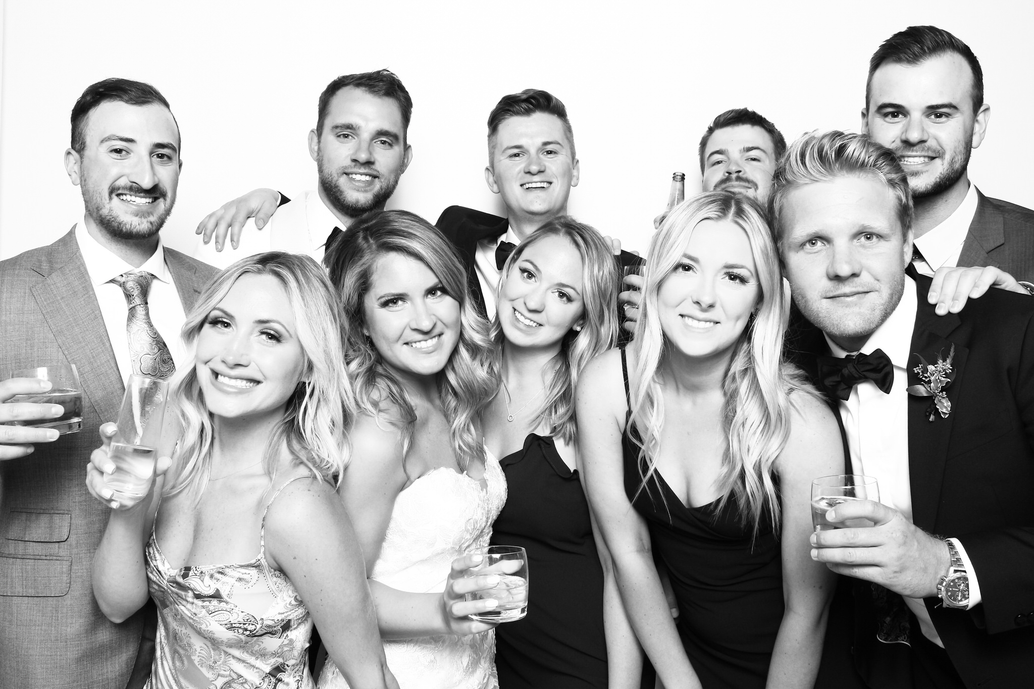 Black and White Photo Booth Wedding